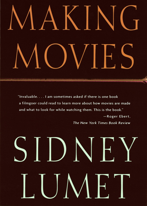 Cover page of Making Movies by Sidney Lumet